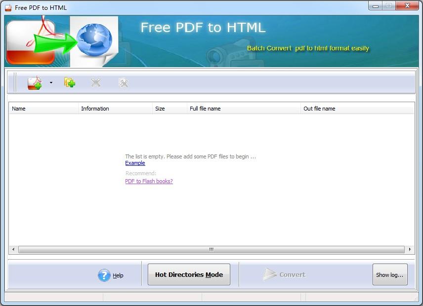 Windows 7 Eaglesoft Free PDF to HTML Converter 1.0 full