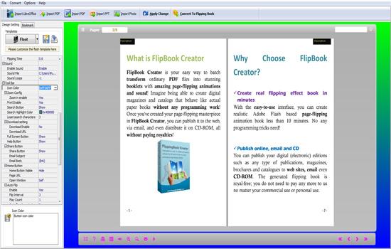 FireDemon OpenOffice to Flipbook screenshot