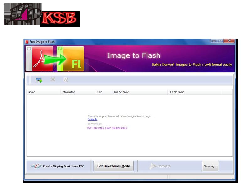 KSBSoft Free Image to Flash Converter full screenshot