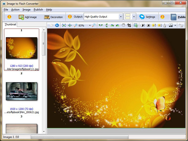 Windows 7 Kxxsoft Free Image to Flash Converter 1.0 full