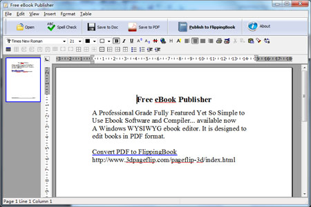 Publish your ebook as DOC or PDF!
