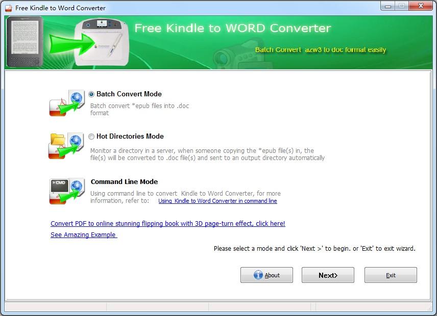 Windows 7 Necosoft Free Kindle to Word Converter 1.0 full