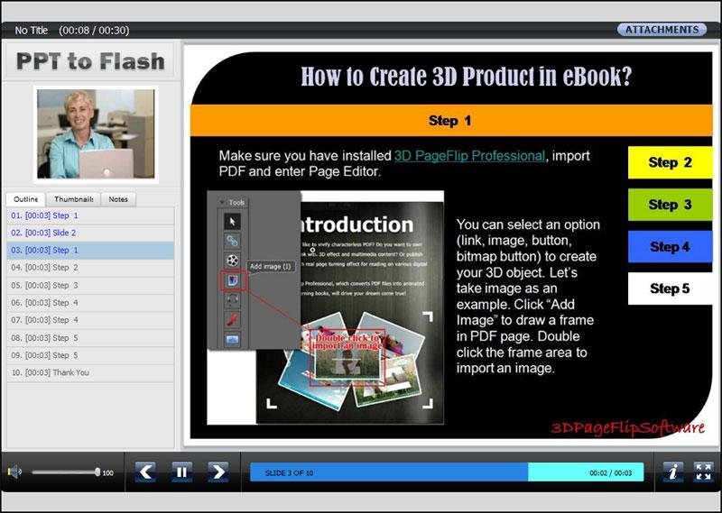 OLvideo Free PowerPoint to Flash full screenshot