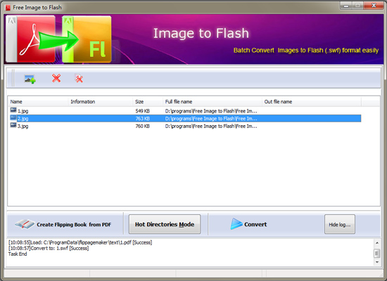 OnGet Flash Image Maker full screenshot