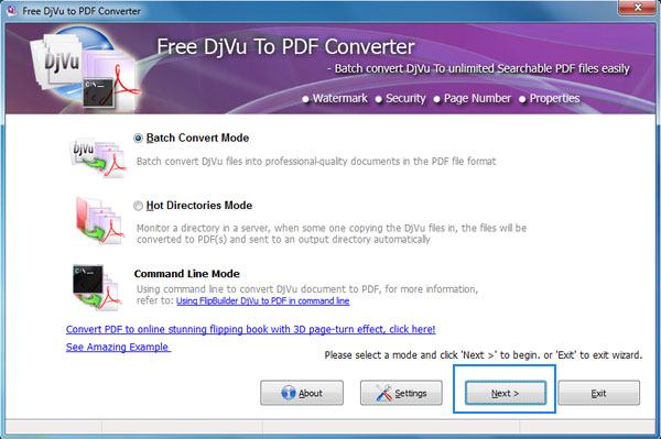 Qconverter Free DjVu to PDF 1.0 full