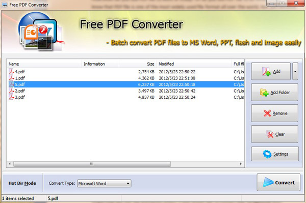 Windows 7 Wind4soft Free PDF Converter 1.0 full